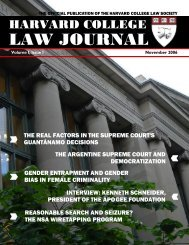 Harvard College Law Journal 2006 Issue 1 - Harvard Computer ...