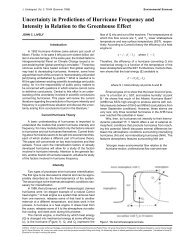 Uncertainty in Predictions of Hurricane Frequency and Intensity in ...