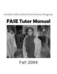 FASE Tutor Manual - Harvard University