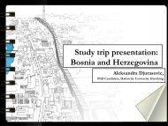 Bosnia and Herzegovina - HafenCity Universität Hamburg