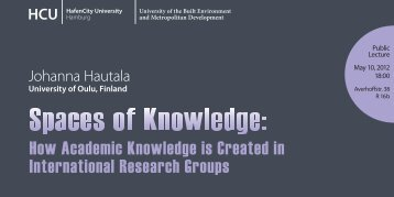 Johanna Hautala | Spaces of Knowledge - HafenCity Universität ...