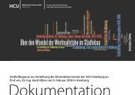 Dokumentation zum Download - HafenCity Universität Hamburg