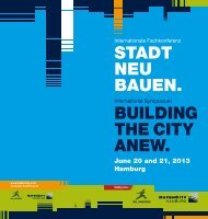 stadt neu bauen. building the city anew. - HafenCity Universität ...