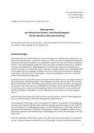 Stellungnahme zum StEP - 12 Nov 2013 - HafenCity Universität ...