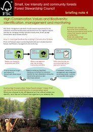 High Conservation Values and Biodiversity - Forest Stewardship ...