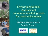 Environmental Risk Assessment to reduce monitoring costs for ...
