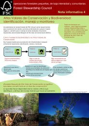 identificación, manejo y monitoreo (pdf) - Forest Stewardship Council