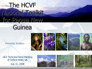 The HCVF National Toolkit for Papua New Guinea - HCV Resource ...