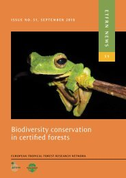 Biodiversity conservation in certified forests - Phylodiversity Network