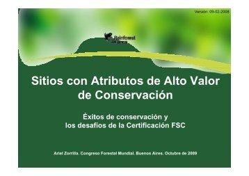 Sitios con Atributos de Alto Valor de Conservación - HCV Resource ...