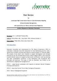 Response to Peer Review - HCV Resource Network