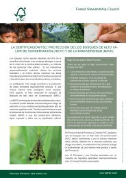 FS - HCVF and biodiversity SP.indd - HCV Resource Network