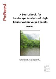 A Sourcebook for Landscape Analysis of High Conservation Value ...