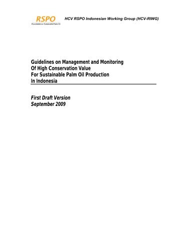 Guidelines on Management and Monitoring Of High Conservation ...