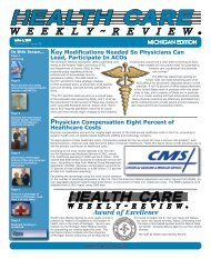 June 6, 2011 Issue - Health Care Weekly Review