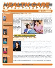May 2, 2011 Issue - Health Care Weekly Review
