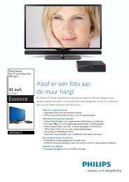 42PES0001D/10 Philips Flat TV met Perfect Pixel HD ... - Hardware
