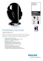 SHD9100/00 Philips Digitale draadloze hoofdtelefoon