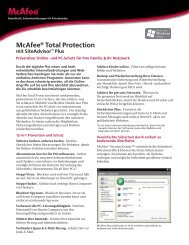 McAfee® Total Protection mit SiteAdvisor™ Plus