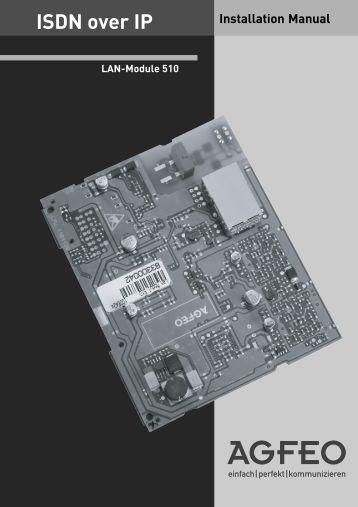 Installation Manual ISDN over IP - Hardware