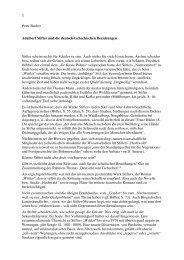 Peter Bucher Adalbert Stifter und die deutsch-tschechischen ...