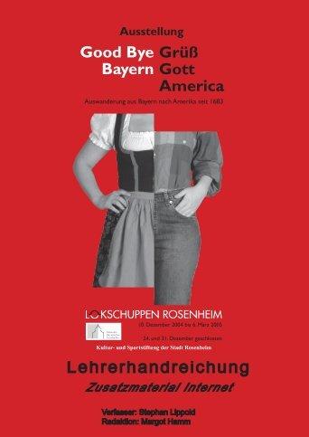 Lehrerhandreichung - Haus der Bayerischen Geschichte