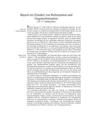 Bayern im Zeitalter von Reformation und Gegenreformation