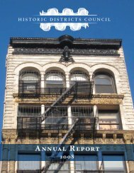 Annual Report (pdf) - Historic Districts Council