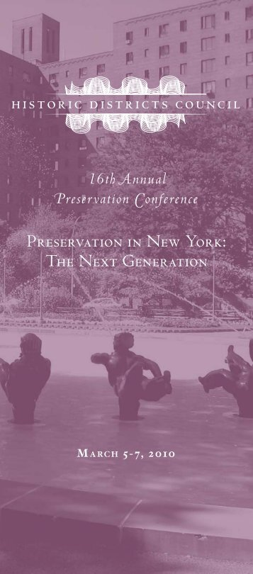Preservation in New York: The Next Generation - Historic Districts ...