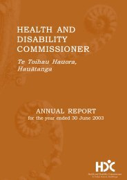 Annual Report for the year ending 30 June 2003 - Health and ...