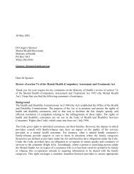 Review of Section 7A of the Mental Health - Health and Disability ...