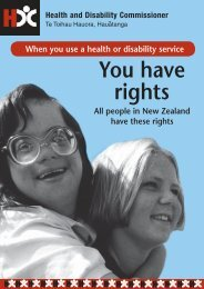 You have rights - Health and Disability Commissioner