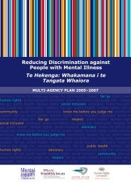Reducing Discrimination against People with Mental Illness