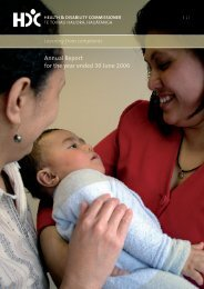 Annual Report for the year ending 30 June 2006 - Health and ...