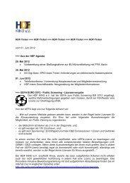 • Vorbereitung einer Stellungnahme zur EU ... - HDF KINO eV