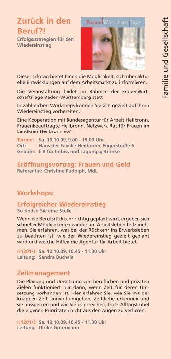 Workshops im Überblick (PDF) - Haus der Familie Heilbronn eV