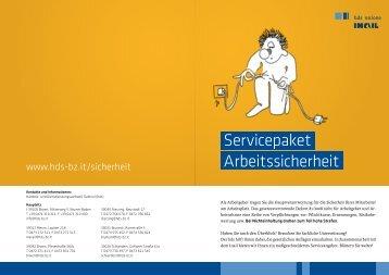 Servicepaket Arbeitssicherheit - Handels- und ...