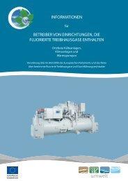 informationen betreiber von einrichtungen, die fluorierte ... - Europa