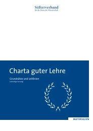 Charta guter Lehre - Stifterverband für die Deutsche Wissenschaft