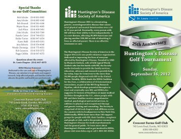 Huntington's Disease Golf Tournament