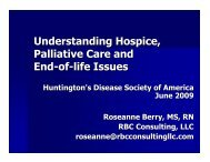 Understanding Hospice, Palliative Care and End-of-life Issues