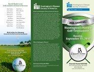 Huntington's Disease Golf Tournament
