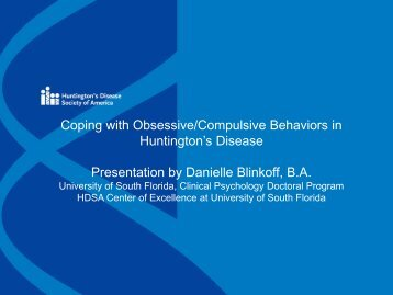 Coping with Obsessive/Compulsive Behaviors in Huntington's ...