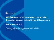 HDSA Annual Convention June 2013 Behavior Issues: Irritability ...