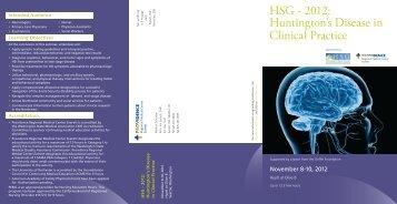 HSG - 2012: Huntington's Disease in Clinical Practice