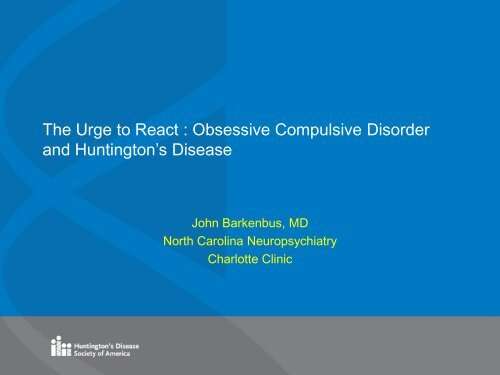 The Urge to React : Obsessive Compulsive Disorder and