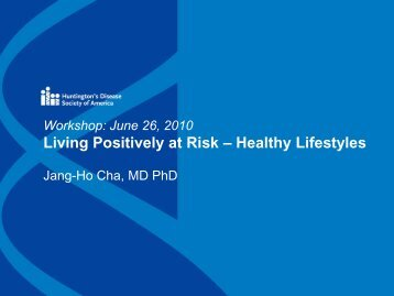 Living Positively at Risk – Healthy Lifestyles