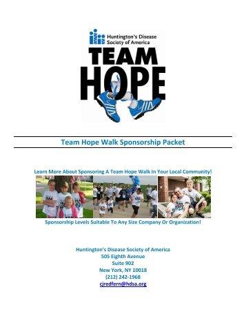 Nashville TN THW Sponsorship Packet - Huntington's Disease ...