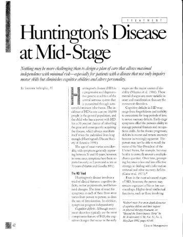 T - Huntington's Disease Society of America