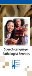 Speech Language Pathology Brochure - Halton District School Board